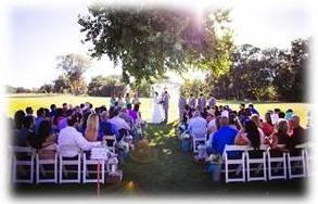Sacramento Wedding DJ at Pavillion Haggin Oaks.  Photo by, and courtesy of, Dee & Kris Photography.